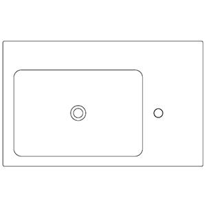 Profondità 50 cm_ invaso a sinistra, 1 foro centrale