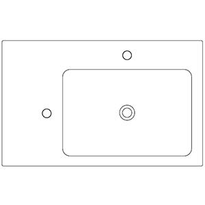Profondità 50 cm_ invaso a destra, 2 fori
