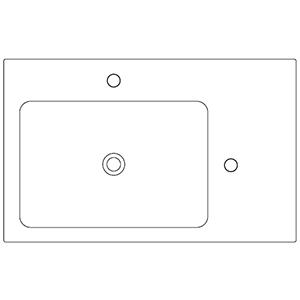 Dept 50 cm_ left basin, 2 holes