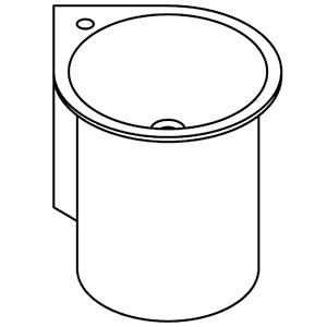 Mural pour angle avec 1 trou pour robinetterie