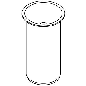 À colonne, sans trou pour robinetterie, prédisposé pour écoulement mural