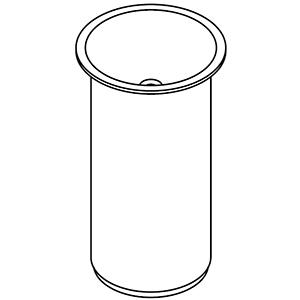 À colonne, sans trou pour robinetterie, prédisposé pour écoulement au sol