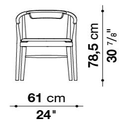 Jens_61 x 58 x H 78,5 cm (Without upholstered backrest)