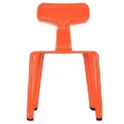 Pressed chair_ glossy finished luminous orange