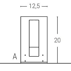L. 12.5 x P. 20 - sp.1 cm (1 LED) FIX SYSTEM