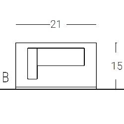 L. 21 x P. 17 - sp. 3 cm (1 LED) ROTATION SYSTEM
