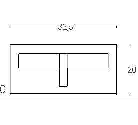 L. 32,5 x P. 22 - sp. 3 cm (2 LED) ROTATION SYSTEM