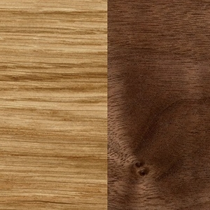 Lacquered oak / Lacquered Walnut