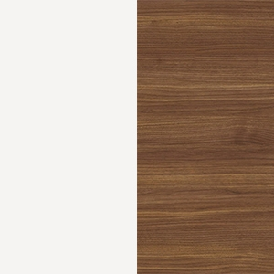 White / Canaletto walnut