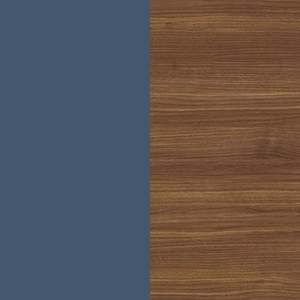 Intense blue / Canaletto walnut