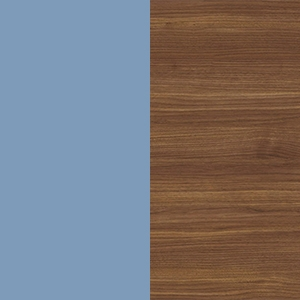 Pastel blue / Canaletto walnut