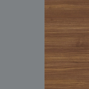 Dusty Gray / Canaletto walnut