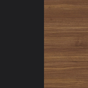 Black / Canaletto walnut