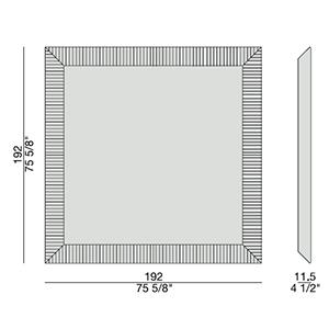 Triple 2_ 192 x 11.5 x H 192 cm