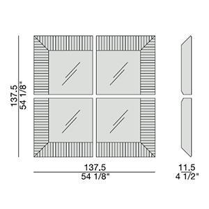 Triple A_ 137.5 x 11.5 x H 137.5 cm