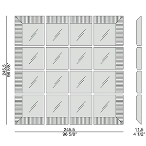 Triple D_ 245.5 x 11.5 x H 245.5 cm