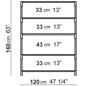 120 x 40 x H 160 cm