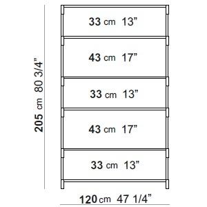 120 x 40 x H 205 cm