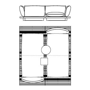 Apsara 11_ 210 x 244 x H 70 cm