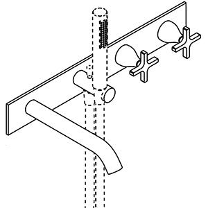 Dual control, flow deviator, handheld shower holder