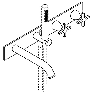 Thermostatic, with flow deviator, handheld shower holder