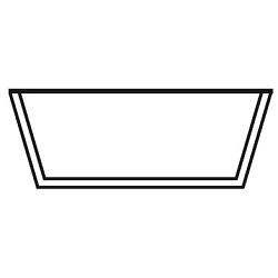 trapeizoidal frame