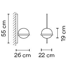 3710_ 22 x 26 x H 55 cm