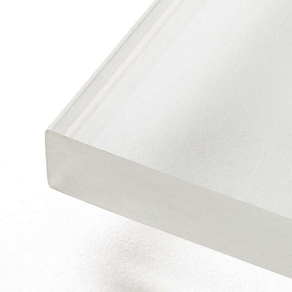 Extralight white painted glass