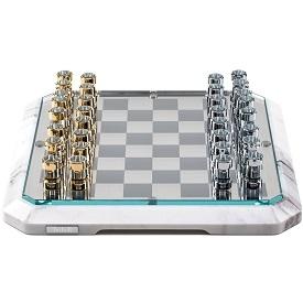 Chessboard_ weiß Carrara-Marmor