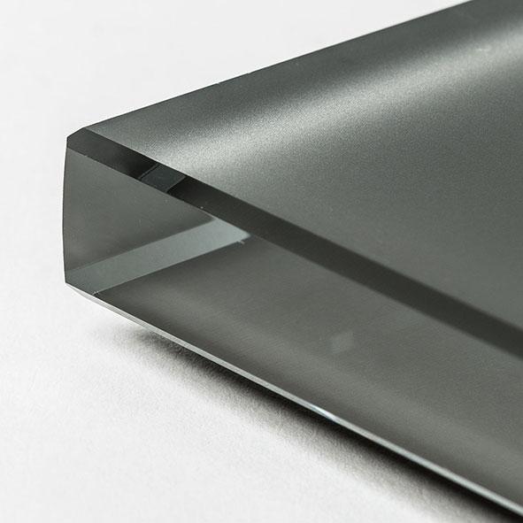 Cristal extraclaro al ácido pintado graphite