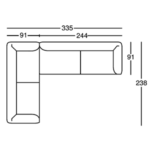 Nr. 3_ 335 x 238 x H 67 cm