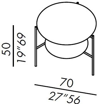 70R_ ø 70 cm x H 50 cm
