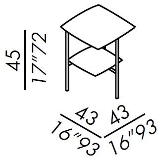 45_ 43 x 43 x H 45 cm