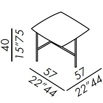 55_ 57 x 57 x H 40 cm