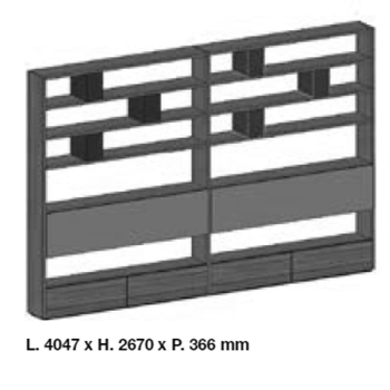 System SY18-11_ 404.7 cm x 36.6 x H 267 cm