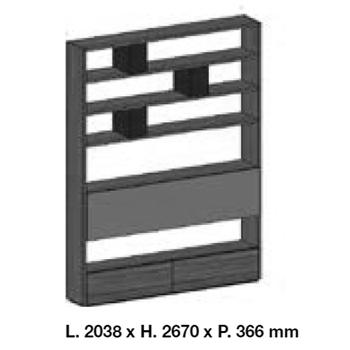 System SY18-12_ 203.8 cm x 36.6 x H 267 cm