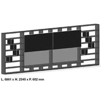 System SY18-14_ 686.1 x 60.2 x H 234 cm