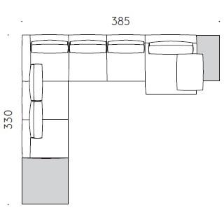 Mosaïque A_385 x 330 x H 61 cm
