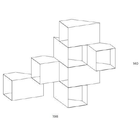 Cellula 3_198 x H 140 cm ( 7 Module )