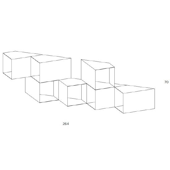 Cellula 4_264 x H 70 cm ( 7 Module )
