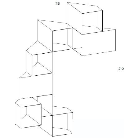 Cellula 6_116 x H 210 cm ( 8 Module )