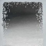 miroir avec décoration sablée