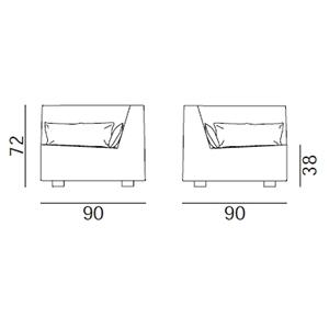 MORE 06 AN_ 90 x 90 x H 72 cm