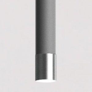 grigio antracite- terminale in nichel lucido nero