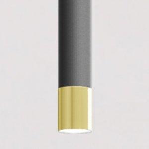 grigio antracite- terminale in oro lucido