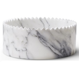 Triangoli Blanc_Ø 25 x H 11 cm