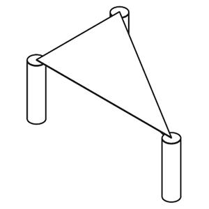 Dreieckig_ 115 x 75 x H 40 cm