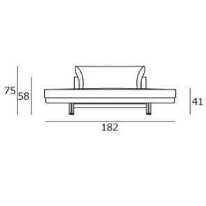 FLHE182C_182 x 122 x H 75 cm