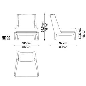 ND92_ 92 x 97 x H 94,5 cm