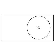 Round_90 x 45 x H 10 cm (LC 491 DX)